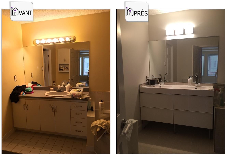 Une salle de bain rénovée pour faire augmenter la valeur de sa